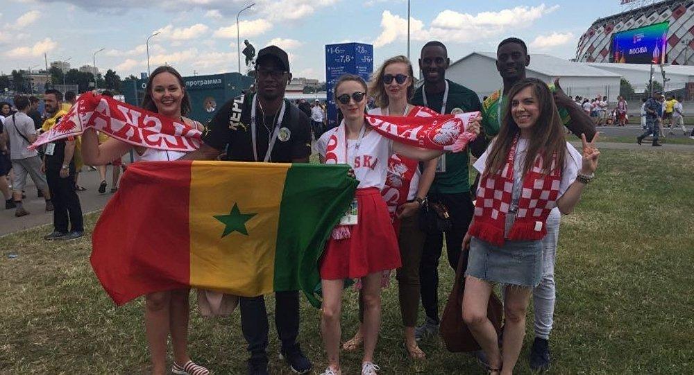 Kibice przed meczem Polska-Senegal