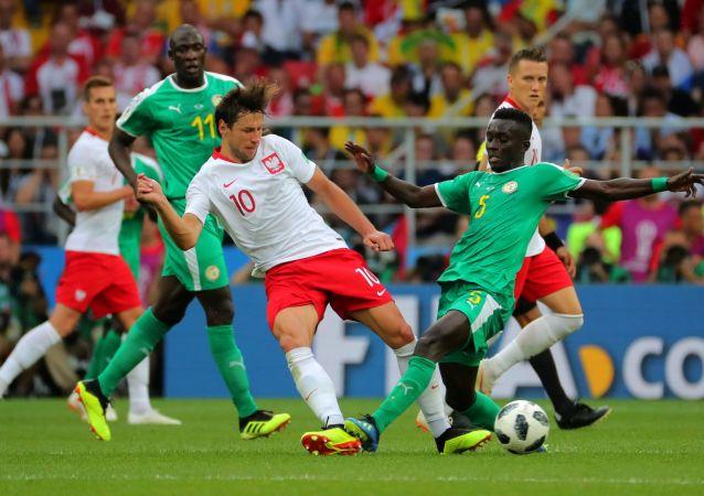 Mecz fazy grupowej mistrzostw świata w piłce nożnej między reprezentacjami Polski i Senegalu