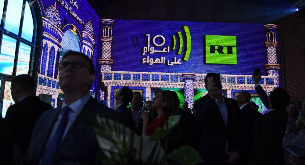 Goście na wieczorze poświęconym dziesięcioleciu nadawania stacji RT Arabic