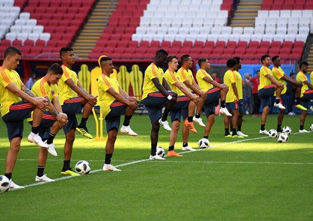 Trening reprezentacji Kolumbii na Kazań Arenie, MŚ 2018