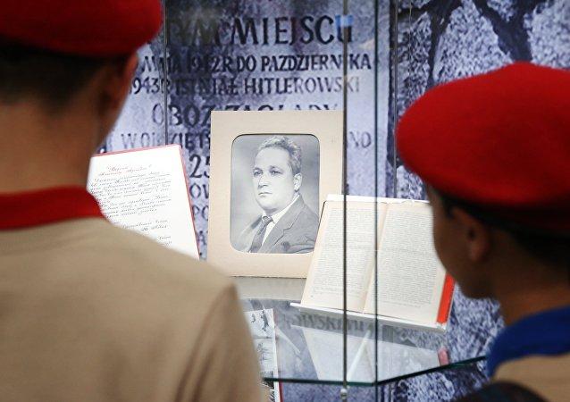 Otwarcie wystawy Aleksander Pieczerski jako symbol sprzeciwienia się faszyzmowi, Moskwa