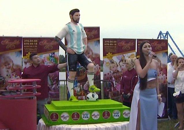 Messi z czekolady