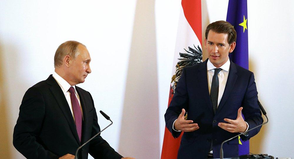 Sebastian Kurz i Władimir Putin