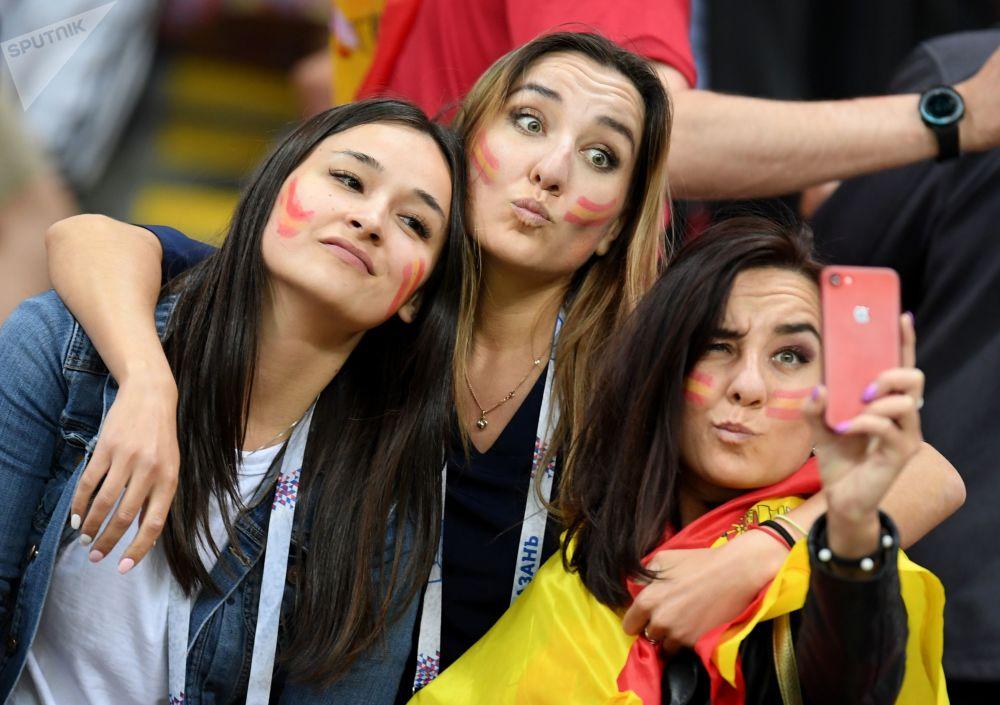 Kibicki reprezentacji Hiszpanii na meczu Hiszpania - Iran