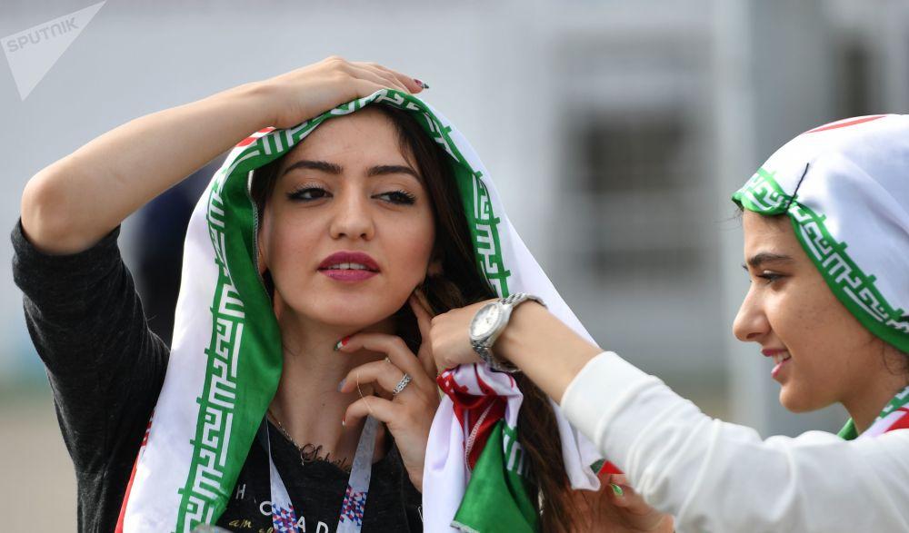 Kibicki z Iranu na meczu z Portugalią