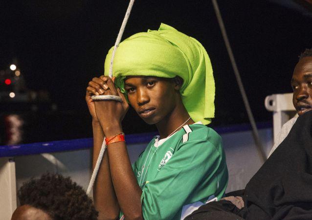 Uratowany na Morzu Śródziemnym migrant