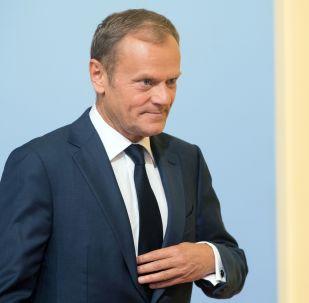 Przewodniczący Rady Europejskiej Donald Tusk. Zdjęcie archiwalne