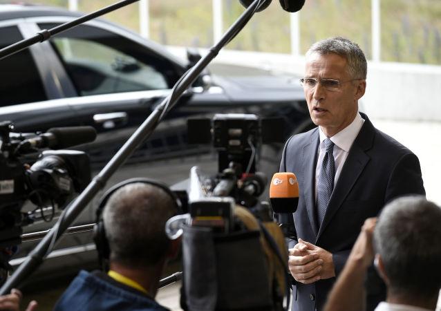 Sekretarz generalny NATO Jens Stoltenberg w Luksemburgu