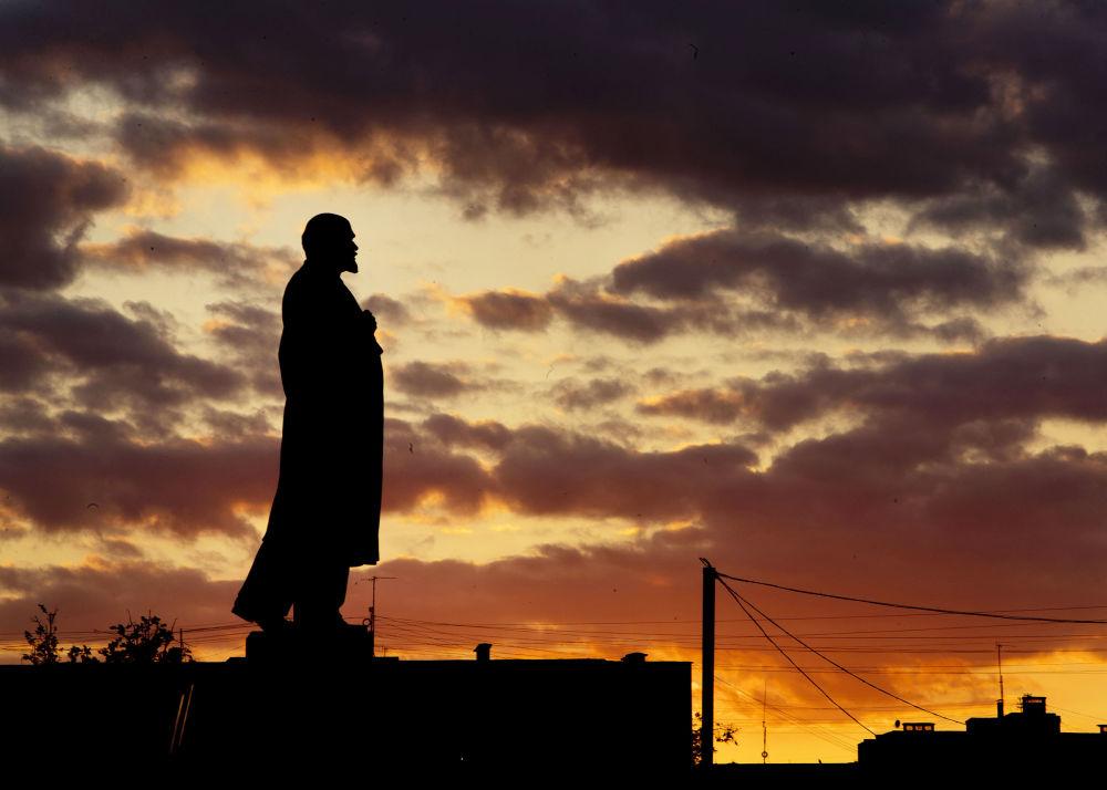 Pomnik Lenina w Podolsku, obwód moskiewski