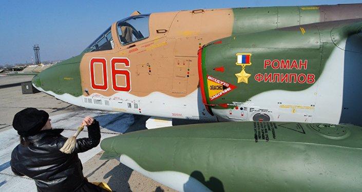 Kapłan święci samolot Su-25 SM