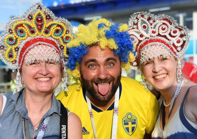 Kibice na meczu Niemcy - Szwecja