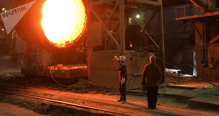 Robotnicy w Magnitogorskim Kombinacie Metalurgicznym