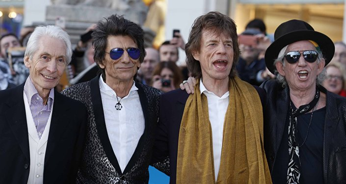 Rolling Stones Charlie Watts, Ronnie Wood, Mick Jagger and Keith Richards.