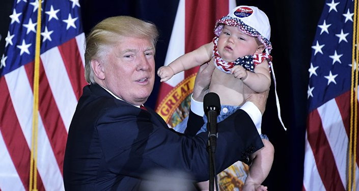 Donald Trump i dziecko