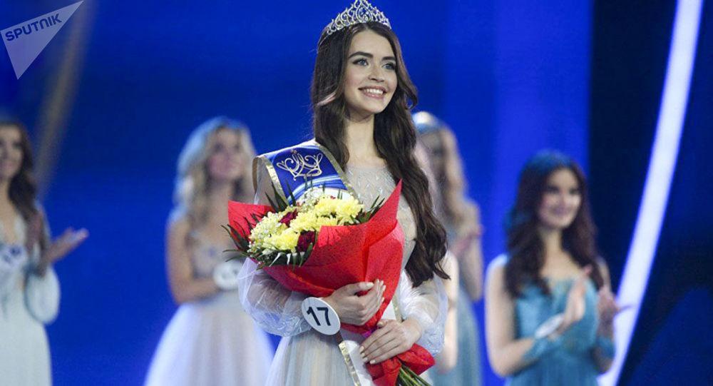 """Zwyciężczyni konkursu """"Miss Białoruś 2018"""" Maria Wasilewicz"""