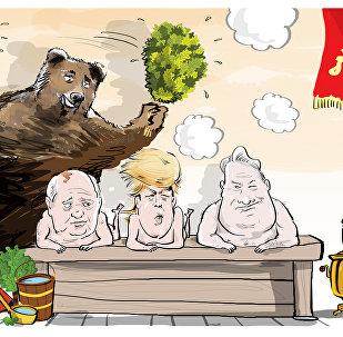 Gdzieśtam na daczy u Gorbaczowa...