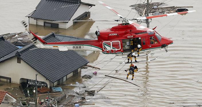Powódź w Japonii