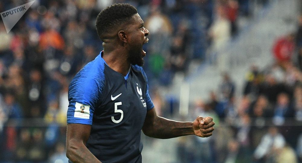 Francuski piłkarz Samuel Umtiti