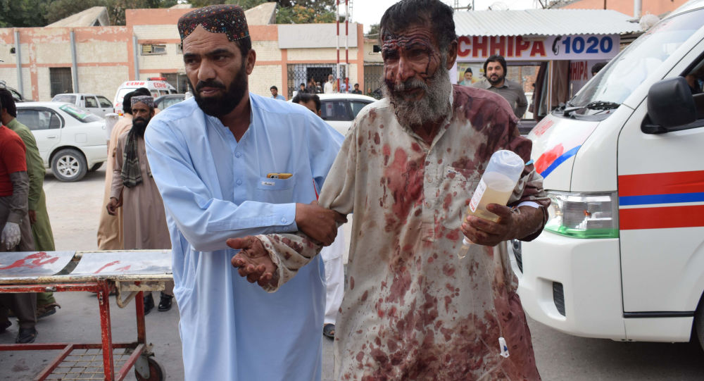 Ofiary zamachu terrorystycznego w Pakistanie