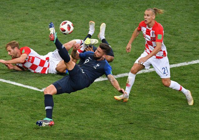 Finałowy mecz MŚ 2018 Francja - Chorwacja
