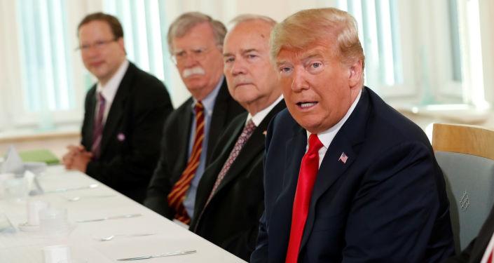 Prezydent USA Donald Trump w Helsinkach na szczycie Rosja-USA