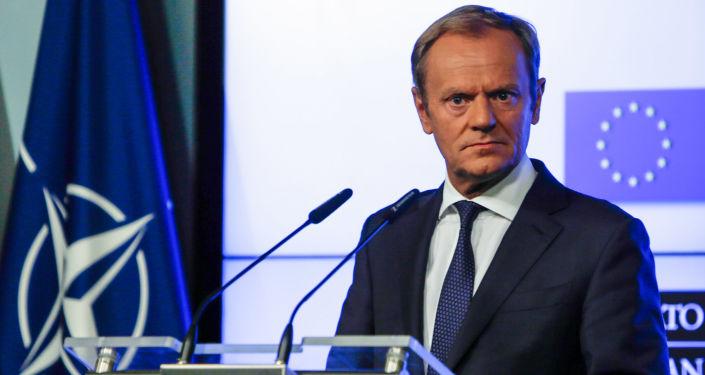 Przewodniczący Rady Europejskiej Donald Tusk na szczycie NATO w Brukseli