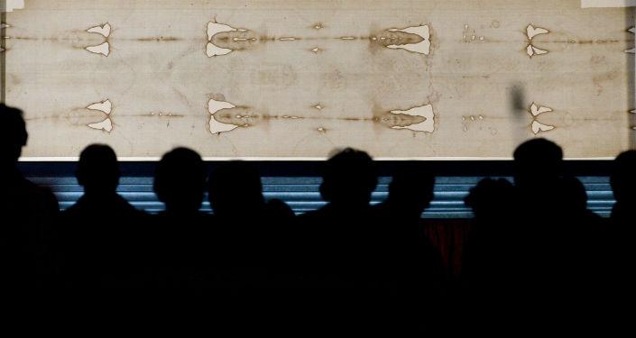 Całun turyński w katedrze w Turynie