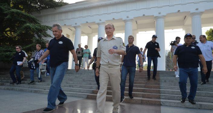 Władimir Putin na Krymie
