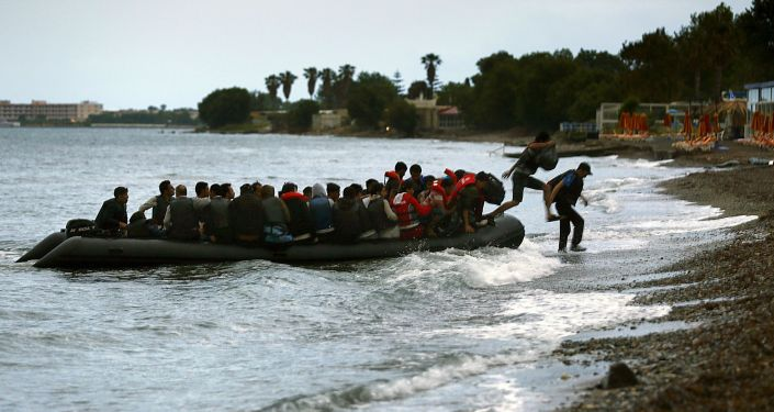 Afrykańscy imigranci na greckiej wyspie Kos