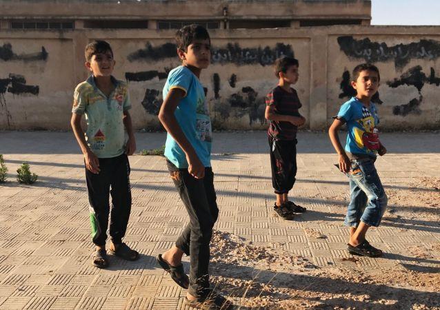 Dzieci w syryjskiej prowincji Dara