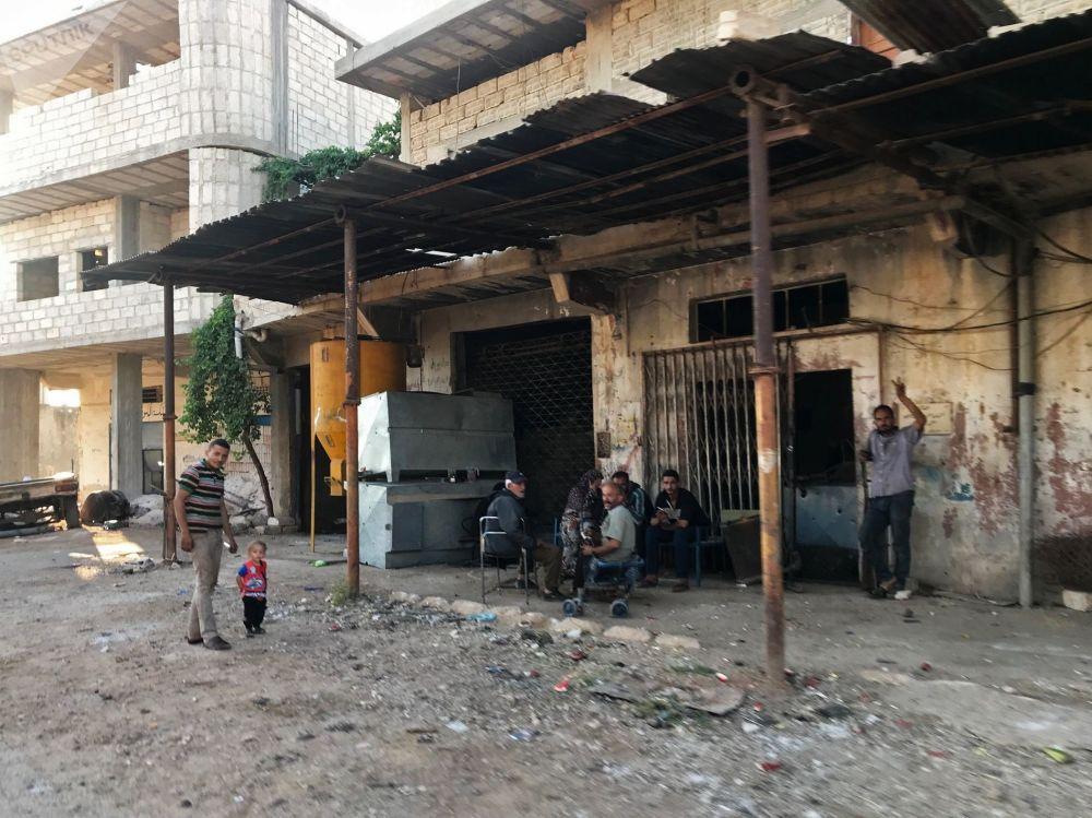 Mężczyźni w syryjskiej prowincji Dara