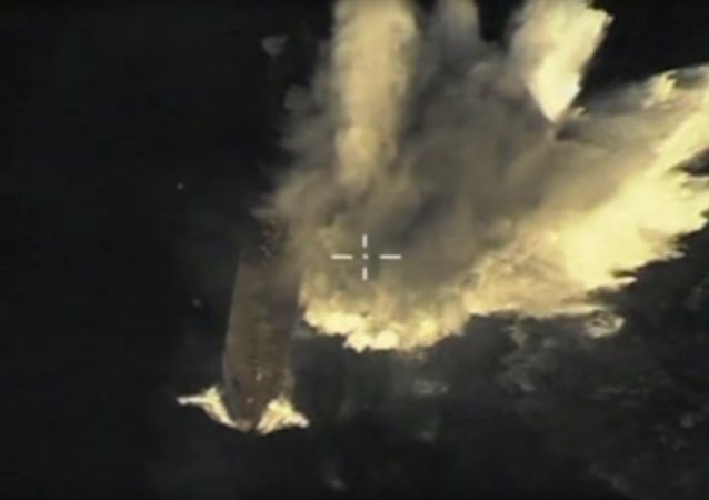 Start pocisku manewrującego z okrętu podwodnego Tomsk