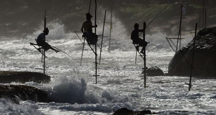 Rybacy na Sri Lance