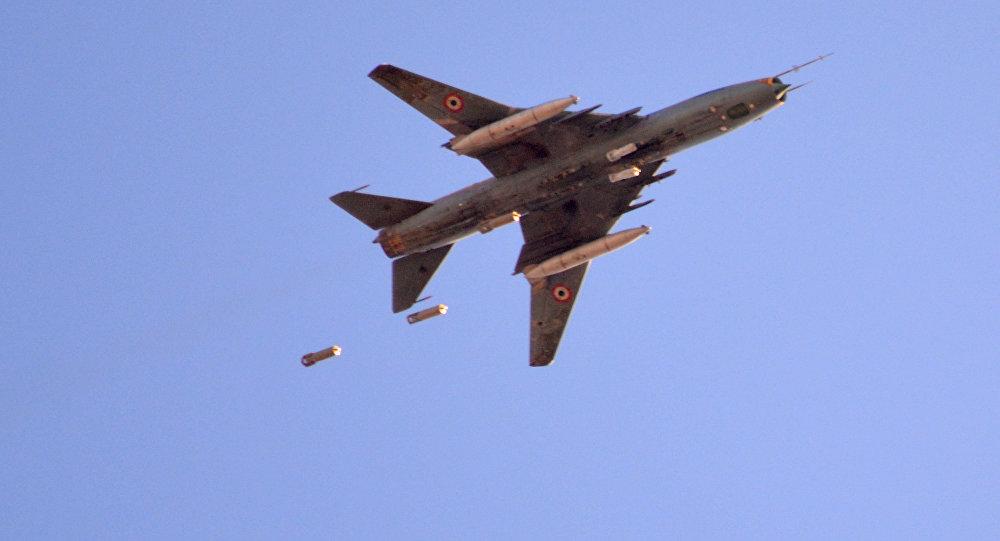 Samolot Suchoj Sił Powietrznych Syrii