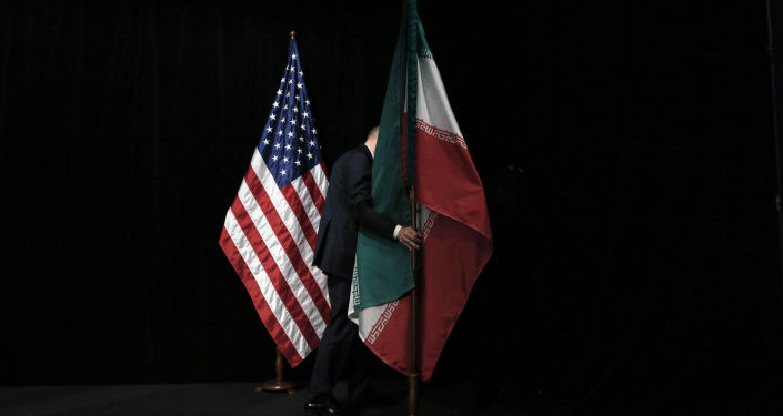 Flagi USA i Iranu