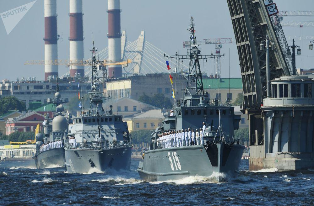 Dzień Marynarki Wojennej w Rosji