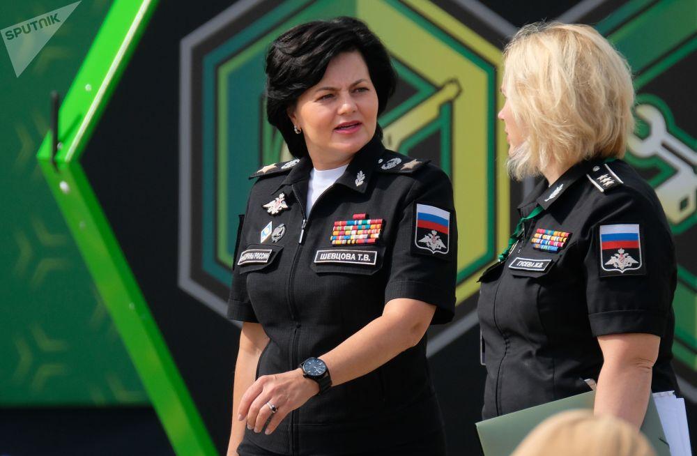 Wiceminister obrony Federacji Rosyjskiej Tatjana Szewcowa i Dyrektor Departamentu ds. Koordynacji i Protokołu Ministerstwa Obrony Rosji Żanna Gusiewa