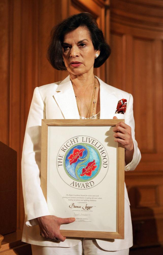 Działaczka społeczna i bojowniczka o prawa człowieka Bianca Jagger
