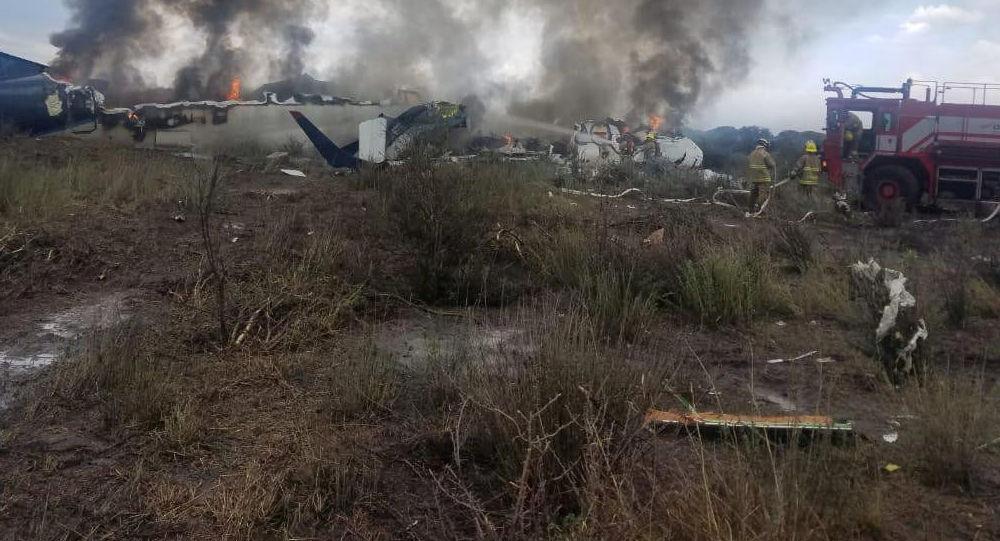 Samolot, który uległ katastrofie w Meksyku