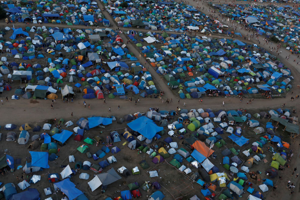24. festiwal Pol'and'Rock (były Przystanek Woodstock), widok z góry