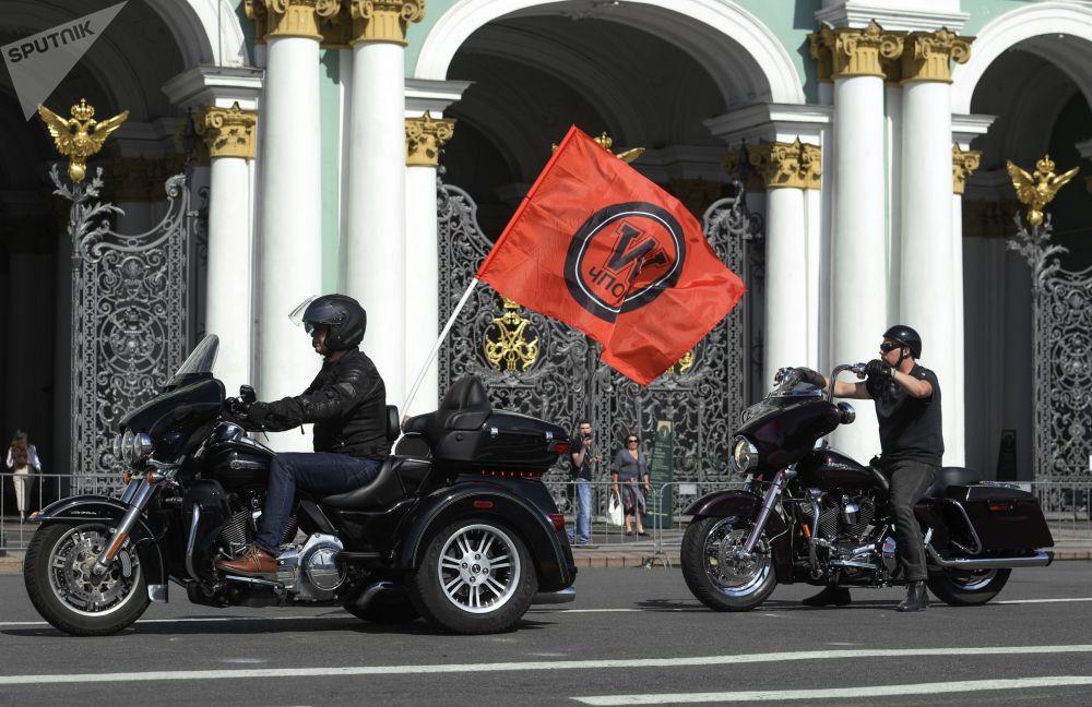 Uczestnicy festiwalu St.Petersburg Harley Days