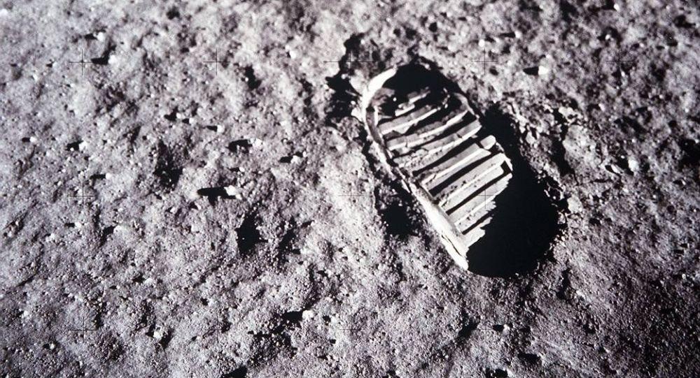 Ślad amerykańskiego astronauty na Księżycu