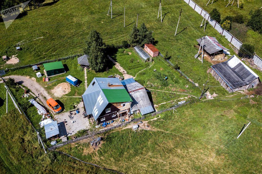 Amerykańska farma pod Moskwą z lotu ptaka