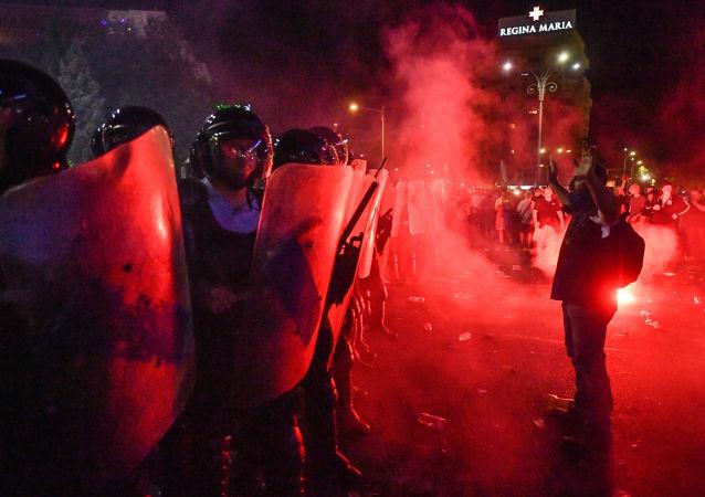 Protesty w Bukareszcie, Rumunia
