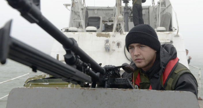 Ukraińska slużba graniczna na Morzu Azowskim