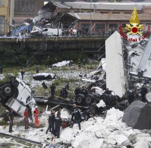 Zawalenie wiaduktu w Genui