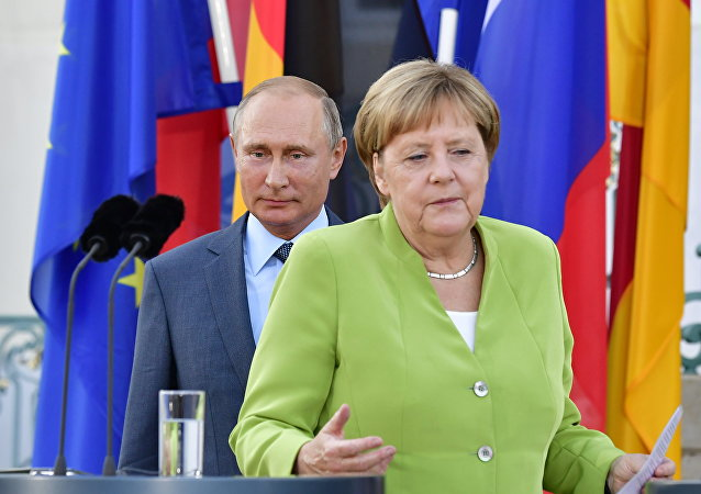 Władimir Putin i Angela Merkel, 18.08.2018 r.