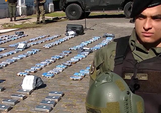 Argentyna: prawie pół tony kokainy z rosyjskiej ambasady poszło z dymem