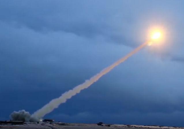 Testy rakiety manewrującej z napędem jądrowym Buriewiestnik. Zdjęcie archiwalne