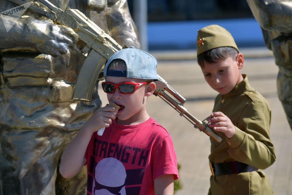 Dzieci na IV Międzynarodowym Forum Wojskowym Armia-2018